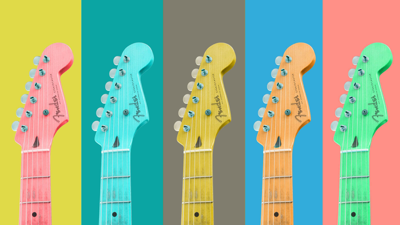 colorful guitars rock