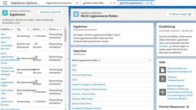 Salesforce Optimizer App