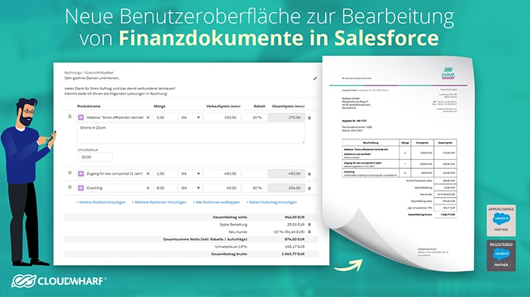 Youtube Thumbnail sevDesk für Salesforce Winter Release