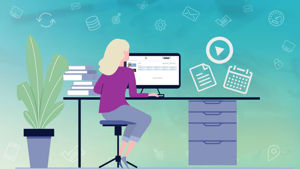 An online learning platform as an app